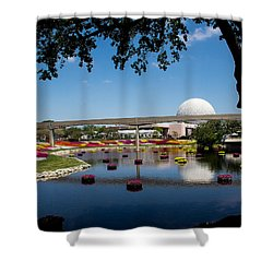 Epcot At Disney World Shower Curtain by Roger Wedegis