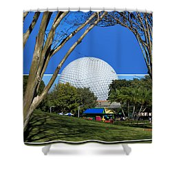 Epcot Globe 02 Shower Curtain by Thomas Woolworth