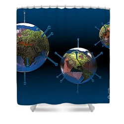 Epidemic Shower Curtain by Carol and Mike Werner