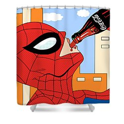 Epiderman   Shower Curtain by Mark Ashkenazi