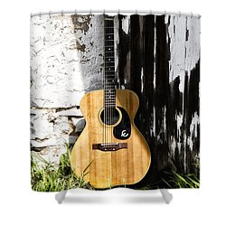Epiphone Caballero Shower Curtain by Bill Cannon