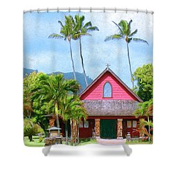 Episcopal Church In Kapaa Shower Curtain by Dominic Piperata