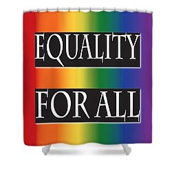 Equality Rainbow Shower Curtain