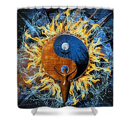 Equilibria Shower Curtain by Kenneth Armand Johnson