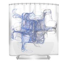 Shower Curtain featuring the digital art Equilibrium by Menega Sabidussi