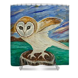 Equinox Owl Shower Curtain