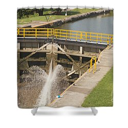 Shower Curtain featuring the photograph Erie Canal Lock by William Norton