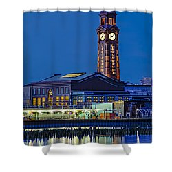 Erie Lackawanna Terminal Hoboken Shower Curtain by Susan Candelario