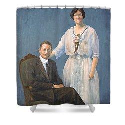 Ernest And Helen Barnes Shower Curtain