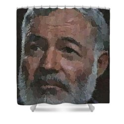 Ernest Hemingway Portrait Shower Curtain