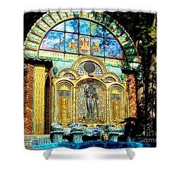 Ernst Fuchs Museum Mural Shower Curtain by Mariola Bitner
