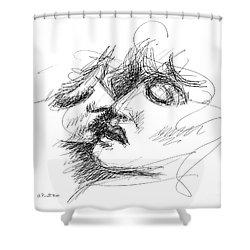 Erotic Art Drawings 15f Shower Curtain