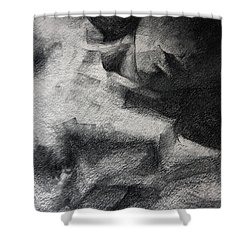 Erotic Sketchbook Page 1 Shower Curtain by Dimitar Hristov