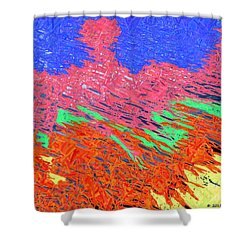 Erupting Lava Meets The Sea Shower Curtain by Joseph Baril