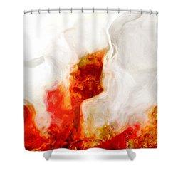 Eruption Shower Curtain by Jack Zulli