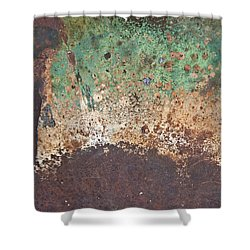 Eruption Volcanic Abstract Shower Curtain by Lee Craig