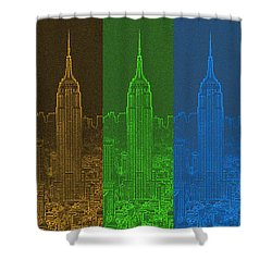 Esb Spectrum Shower Curtain by Meandering Photography