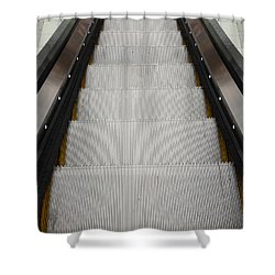 Escalator Shower Curtain by Les Cunliffe