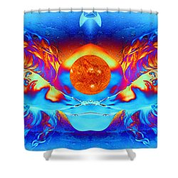 Escape From The Sun Shower Curtain by Matthew Lacey