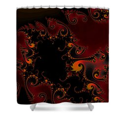 Shower Curtain featuring the digital art Escape Hatch by Elizabeth McTaggart