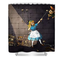 Shower Curtain featuring the painting Escape by Reynold Jay