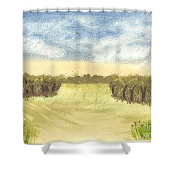 Shower Curtain featuring the painting Escape To The Country by Tracey Williams