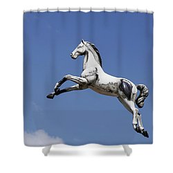 Escaped Carousel Horse Shower Curtain
