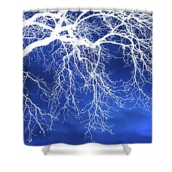 Escaping The Blues Weeping Tree Art Shower Curtain by Christina Rollo