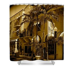 Espanola Way In Miami South Beach Shower Curtain