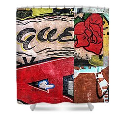 Shower Curtain featuring the mixed media Especially Colorful by Terry Rowe
