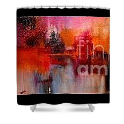 Espressions Of Reflections Shower Curtain by Glory Wood