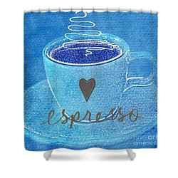 Espresso Shower Curtain by Linda Woods