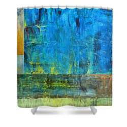 Essence Of Blue Shower Curtain by Michelle Calkins