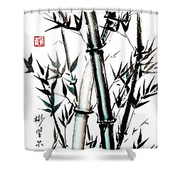 Essence Of Strength Shower Curtain by Bill Searle
