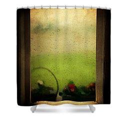 Et Peu A Peu Les Flots Respiraient Comme On Pleure Shower Curtain by Taylan Apukovska