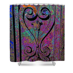 Etched Love Shower Curtain