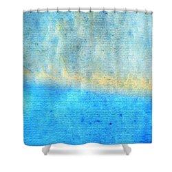 Eternal Blue - Blue Abstract Art By Sharon Cummings Shower Curtain by Sharon Cummings