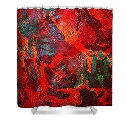 Eternal Flow Shower Curtain by Ally  White