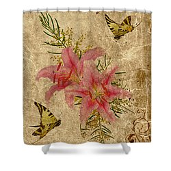 Eternal Love Message Shower Curtain by Olga Hamilton