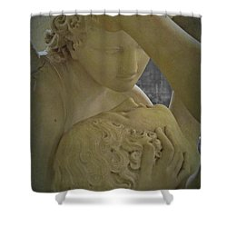 Eternal Love - Psyche Revived By Cupid's Kiss - Louvre - Paris Shower Curtain by Marianna Mills