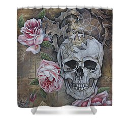 Shower Curtain featuring the painting Eternal by Sheri Howe