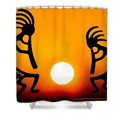 Eternity's Sunrise Shower Curtain