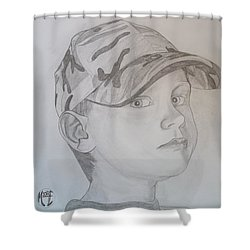 Ethan Age 6 Shower Curtain by Justin Moore