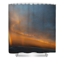 Ethereal Clouds And Rainbow Shower Curtain by Greg Reed