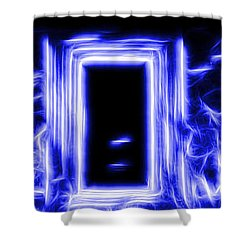 Ethereal Doorways Blue Shower Curtain