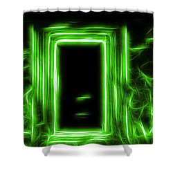 Ethereal Doorways Green Shower Curtain