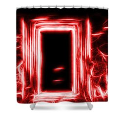 Ethereal Doorways Red Shower Curtain