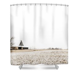 Ethereal Wintry Scene Shower Curtain