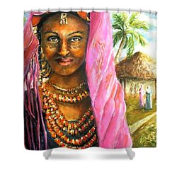 Shower Curtain featuring the painting Ethiopia Bride by Bernadette Krupa