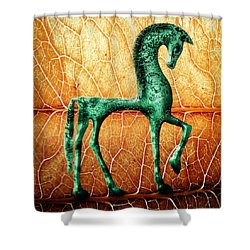 Etruscan Horse Shower Curtain